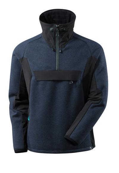MASCOT® ADVANCED - Marine foncé/Noir - Veste tricot demi-zippée avec membrane