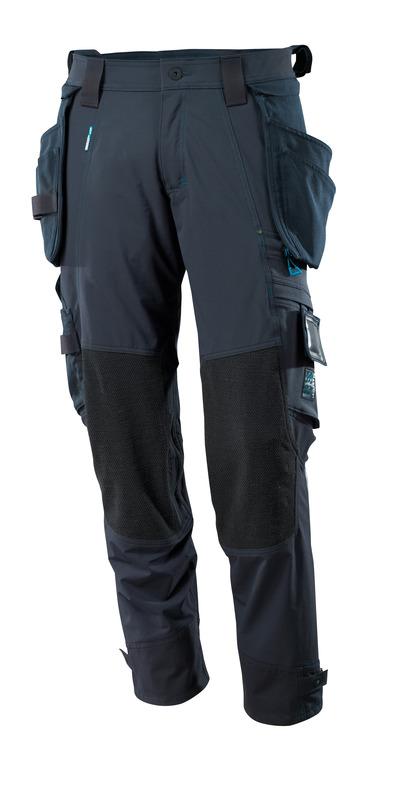MASCOT® ADVANCED - Marine foncé - Pantalon avec poches genouillères en Dyneema® et poches flottantes amovibles, stretch multidirectionnel, poids léger