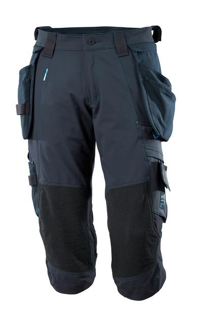 MASCOT® ADVANCED - Marine foncé - Pantacourt avec poches genouillères en Dyneema® et poches flottantes amovibles, stretch multidirectionnel, léger