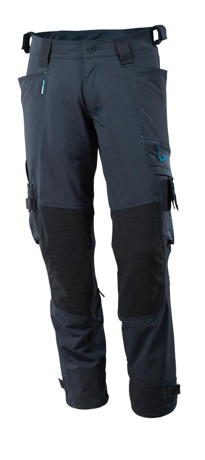 MASCOT® ADVANCED - Marine foncé - Pantalon avec poches genouillères en Dyneema®, stretch multidirectionnel, léger
