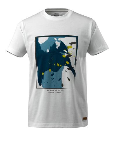 MASCOT® ADVANCED - Blanc - T-shirt avec Motif surf, coupe moderne