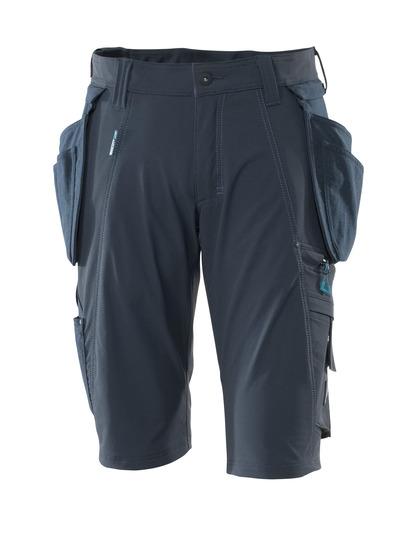 MASCOT® ADVANCED - Marine foncé - Short avec poches flottantes amovibles en CORDURA®, stretch multidirectionnel, léger