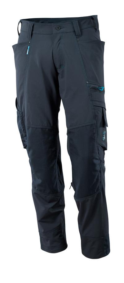 MASCOT® ADVANCED - Marine foncé - Pantalon avec poches genouillères en CORDURA®, stretch multidirectionnel, poids léger