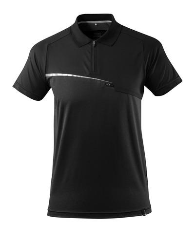 MASCOT® ADVANCED - Noir - Polo évacuant l'humidité, poche frontale, coupe moderne