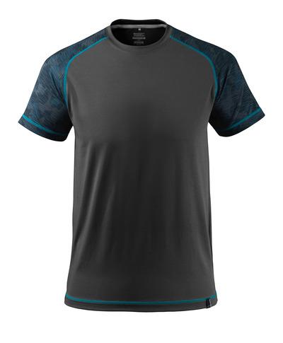 MASCOT® ADVANCED - Noir - T-shirt évacuant l'humidité, coupe moderne