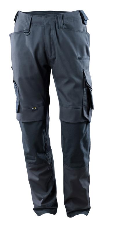 MASCOT® Adra - Marine foncé - Pantalon avec poches genouillères en CORDURA®, panneaux en stretch, haute solidité