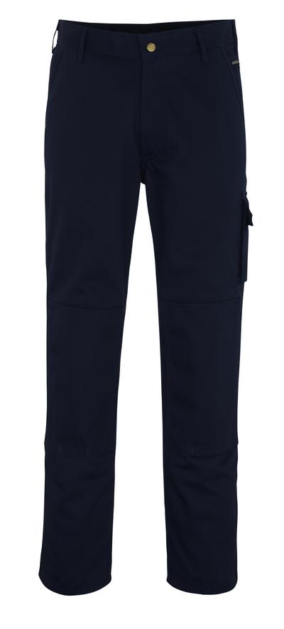 MASCOT® Albany - Marine - Pantalon avec poches genouillères, haute solidité