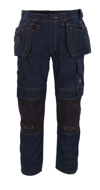 MASCOT® Almada - Marine foncé - Pantalon avec poches genouillères en CORDURA® et poches flottantes, haute solidité