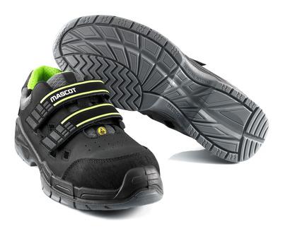 MASCOT® Alpamayo - Noir - Sandale de sécurité S1P avec bande auto-agrippante
