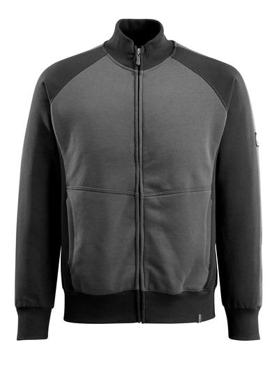 MASCOT® Amberg - Anthracite foncé/Noir - Sweatshirt zippé
