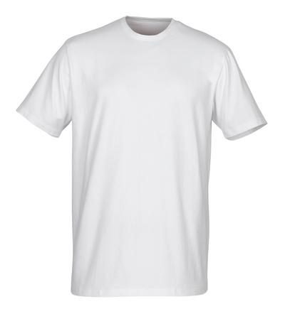 MASCOT® Argana - Blanc - Sous-vêtement à petite encolure en V et manches courtes, coupe moderne