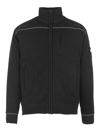 MASCOT® Arta - Noir - Pull zippé, coupe moderne