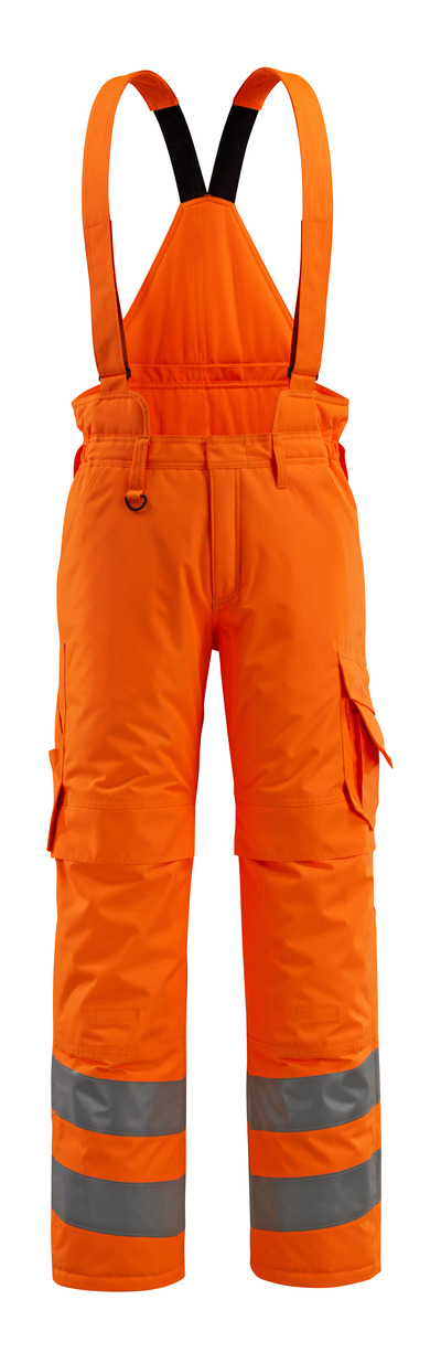 MASCOT® Ashford - Hi-vis orange - Pantalon d'hiver avec doublure matelassée et bretelles amovibles, imperméable