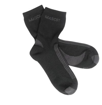 MASCOT® Asmara - Noir/Anthracite foncé - Chaussettes, évacuant l'humidité