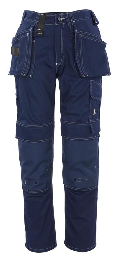 MASCOT® Atlanta - Marine - Pantalon avec poches genouillères et poches flottantes en CORDURA®, coton