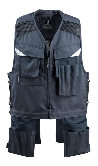 MASCOT® Baza - Marine foncé - Gilet porte-outils avec quatre poches flottantes
