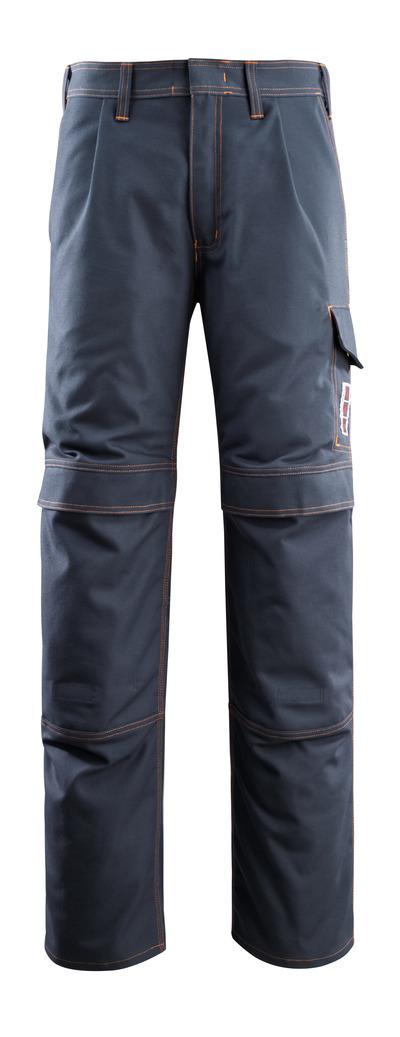 MASCOT® Bex - Marine foncé - Pantalon avec poches genouillères, multiprotection