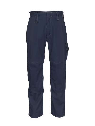 MASCOT® Biloxi - Marine foncé - Pantalon avec poches genouillères, coton