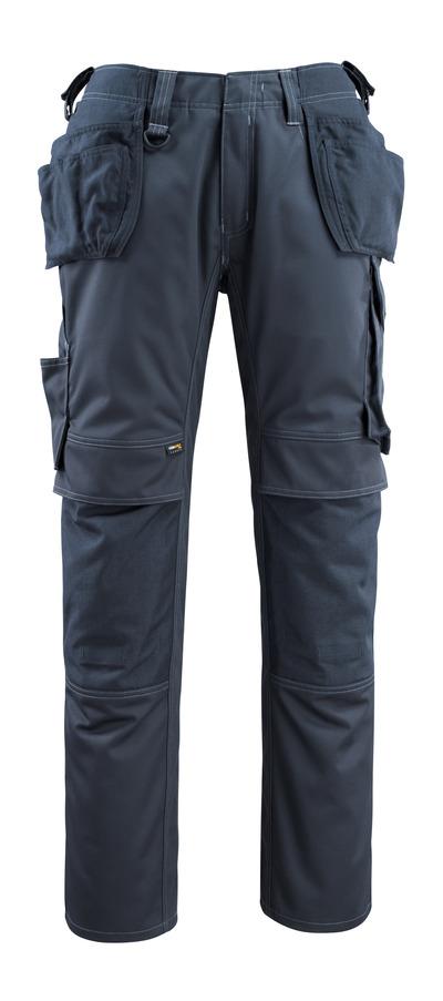 MASCOT® Bremen - Marine foncé - Pantalon avec poches genouillères et poches flottantes en CORDURA®, haute solidité