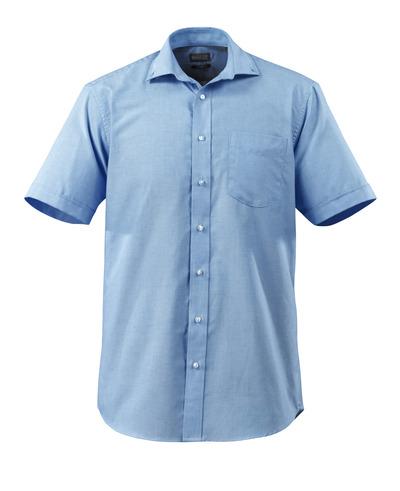 MASCOT® CROSSOVER - Bleu ciel - Chemise Tissu Oxford, coupe classique, manches courtes.