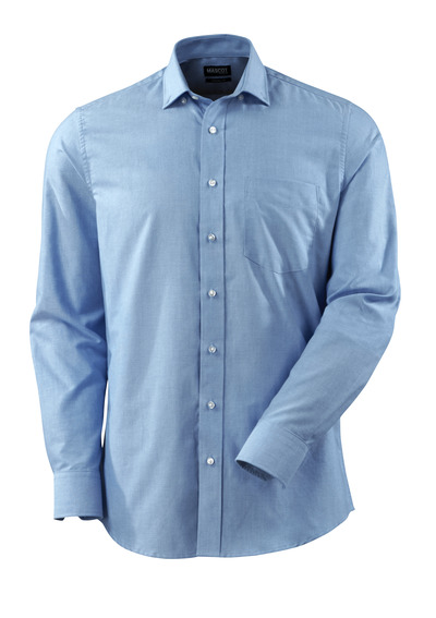 MASCOT® CROSSOVER - Bleu ciel - Chemise Tissu Oxford, coupe moderne, manches longues.