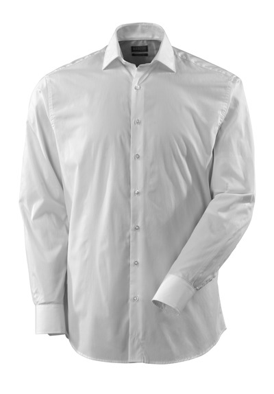 MASCOT® CROSSOVER - Blanc - Chemise Tissu popeline, coupe classique, manches longues.