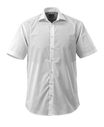 MASCOT® CROSSOVER - Blanc - Chemise Encolure en V, coupe classique, manches courtes.