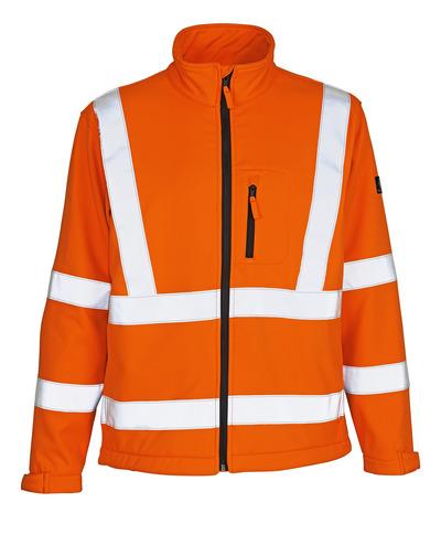 MASCOT® Calgary - Hi-vis orange - Veste softshell avec polaire à l'intérieur, classe 3