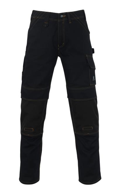 MASCOT® Calvos - Noir - Pantalon avec poches genouillères en CORDURA®, haute solidité