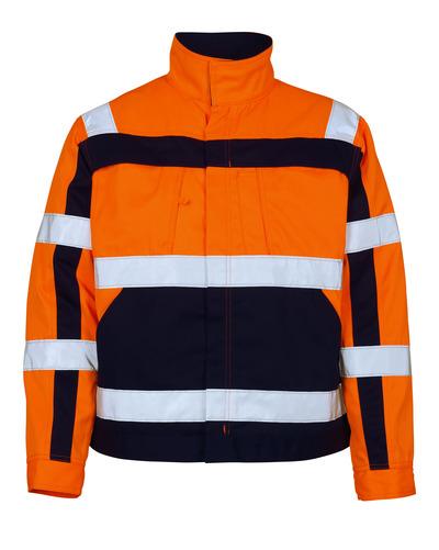 MASCOT® Cameta - Hi-vis orange/Marine - Veste, haute solidité, classe 2