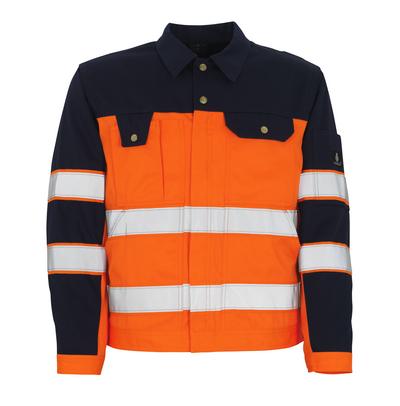 MASCOT® Como - Hi-vis orange/Marine* - Veste, haute solidité, classe 2/2