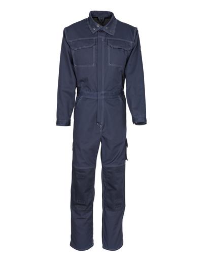 MASCOT® Danville - Marine foncé - Combinaison avec poches genouillères, coton