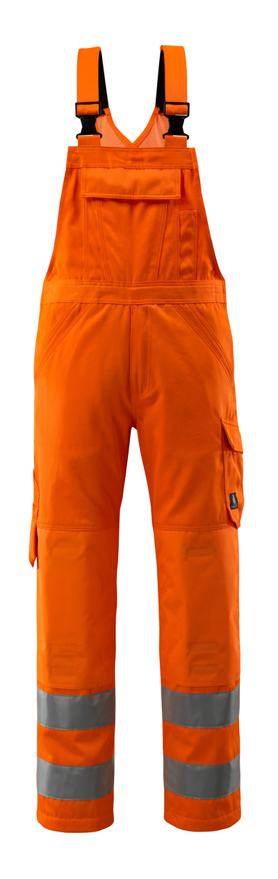 MASCOT® Devonport - Hi-vis orange - Salopette avec poches genouillères, unicolore, classe 2.