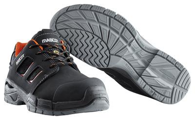 MASCOT® Diran - Noir/Orange foncé - Chaussures de sécurité S3 à lacets
