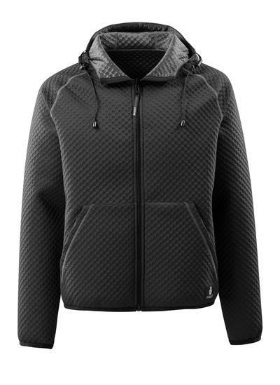 MASCOT® Dosrius - Noir - Sweat capuche zippé, texture gaufrée, réversible