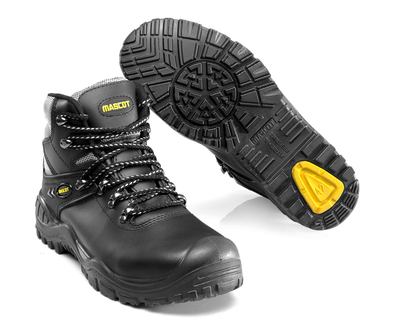 MASCOT® Elbrus - Noir/jaune - Bottes de sécurité S3 à lacets