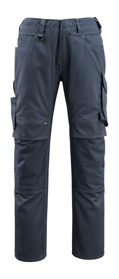 MASCOT® Erlangen - Marine foncé - Pantalon avec poches genouillères en CORDURA®, haute solidité