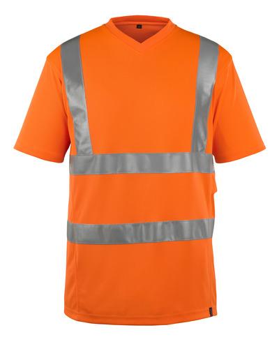 MASCOT® Espinosa - Hi-vis orange - T-shirt, encolure en V, coupe moderne, classe 2