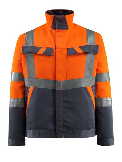 MASCOT® Forster - Hi-vis orange/Marine foncé - Veste, poids léger, classe 2