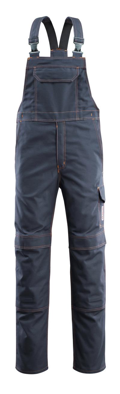 MASCOT® Freibourg - Marine foncé - Salopette avec poches genouillères, multiprotection