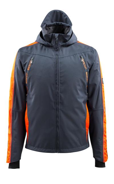 MASCOT® Gandia - Marine foncé/Hi-vis orange - Veste d'extérieur avec contrastes réfléchissants, imperméable
