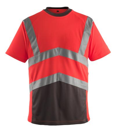 MASCOT® Gandra - Hi-vis rouge/Anthracite foncé* - T-shirt, coupe moderne, classe 2