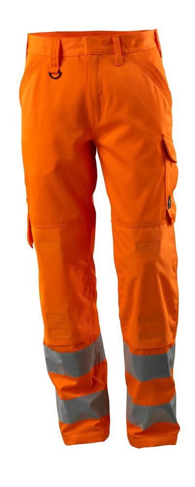 MASCOT® Geraldton - Hi-vis orange - Pantalon avec poches genouillères, unicolore, classe 2.