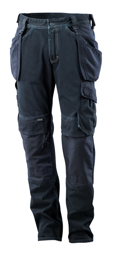 MASCOT® HARDWEAR - Denim bleu foncé - Jeans avec poches flottantes, ultrarésistantes.
