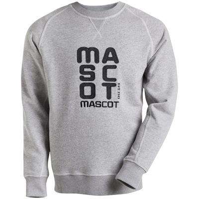 MASCOT® HARDWEAR - Gris chiné* - Sweatshirt avec broderie MASCOT, coupe moderne