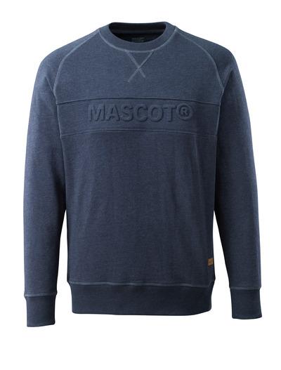 MASCOT® HARDWEAR - Denim bleu foncé délavé - Sweatshirt avec motif MASCOT, coupe moderne