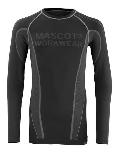 MASCOT® Hamar - Noir - Tricot de corps thermique, évacuant l'humidité, isolant