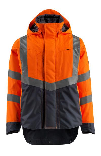 MASCOT® Harlow - Hi-vis orange/Marine foncé - Veste d'extérieur imperméable, classe 3