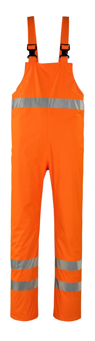 MASCOT® Hartberg - Hi-vis orange* - Salopette de pluie, coupe-vent et imperméable, classe 2