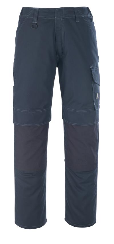 MASCOT® Houston - Marine foncé - Pantalon avec poches genouillères, poids léger
